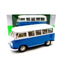 VW VOLKSWAGEN COMBI T1 MINIBUS DE 1962 BLEU 1:24 WELLY