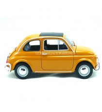 FIAT 500 JAUNE FONCÉ 1957 - 1:18 WELLY