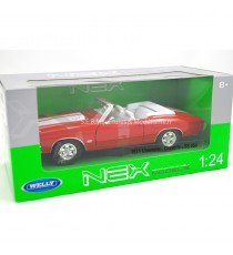CHEVROLET CHEVELLE SS 454 CABRIOLET DE 1971 ROUGE - 1:24 WELLY