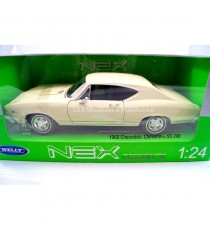 CHEVROLET CHEVELLE SS 396 de 1968 BEIGE 1:24 WELLY