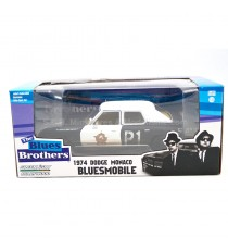 DODGE MONACO 1974 DU FILM BLUES BROTHERS ( 1980 ) HOLLYWOOD SERIE 1* - 1:24 GREENLGHT SOUS BLISTER