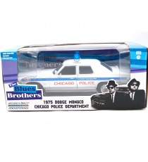 DODGE MONACO 1975 DU FILM BLUES BROTHERS CHICAGO POLICE ( 1980 ) HOLLYWOOD SERIE 1* 1:24 GREENLGHT SOUS BLISTER