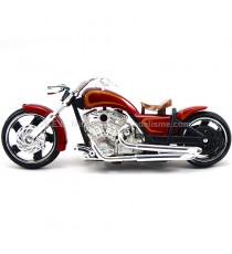 IRON CHOPPERS CUSTOM V-TWIN ROUGE FLAMMING MARRON 1/18 MOTORMAX