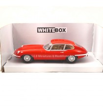 JAGUAR TYPE E 1962 ROUGE 1/24 WHITEBOX