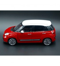 FIAT 500 L 2013 ROUGE TOIT BLANC - 1:24-27 WELLY