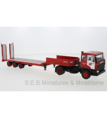 CAMION DAF TRANSPORTEUR D'ENGINS ROUGE/BLANC 1:43 IXO-MODELS OC19SP