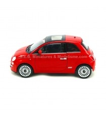 FIAT 500 ROUGE 2007 ROUGE 1:24-27 WELLY